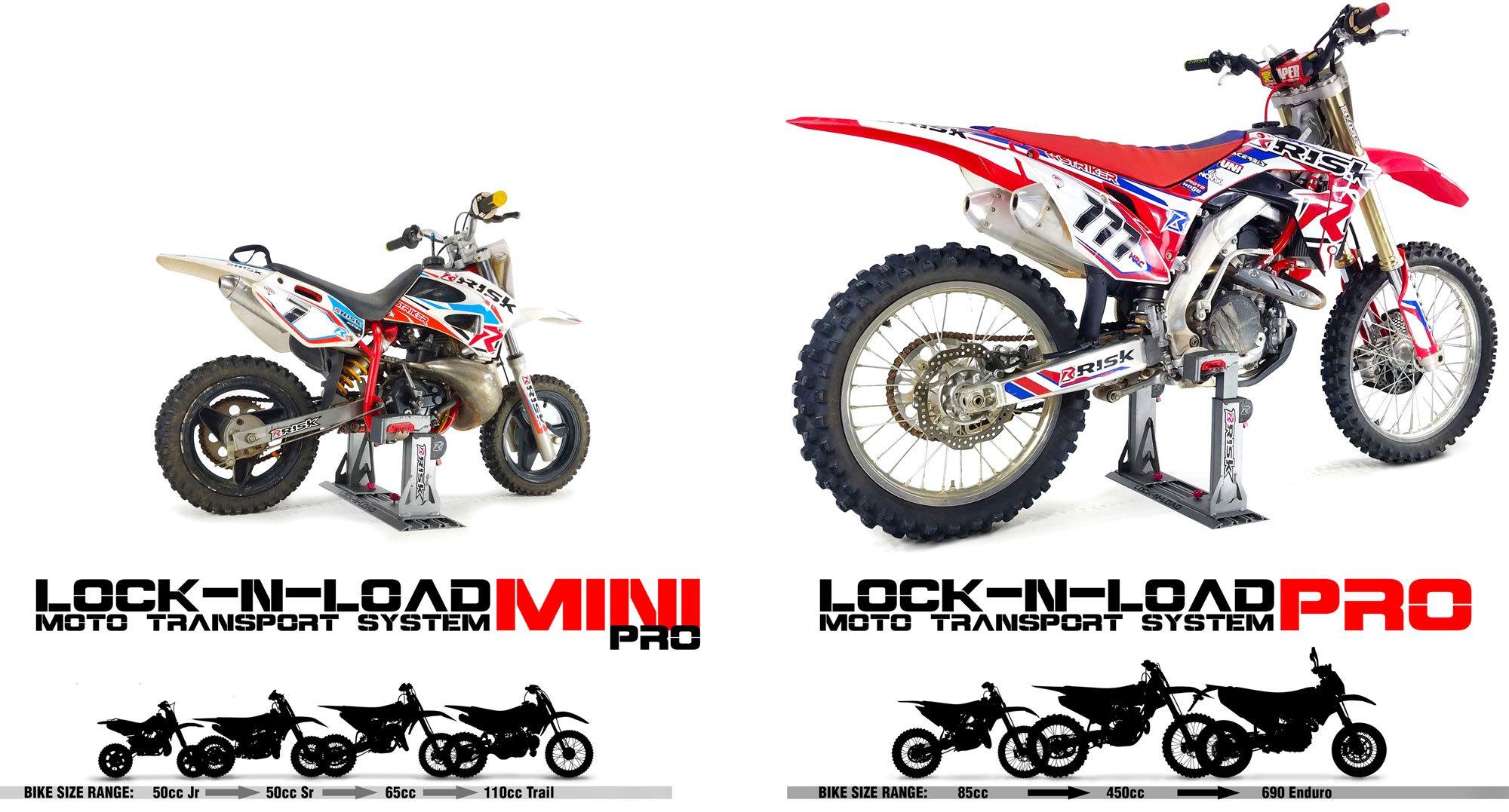 Motociklų transportavimo stovas RISK RACING Lock-N-Load Pro 85cc-450cc