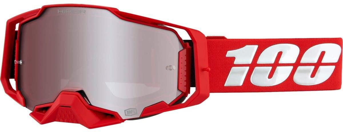 Akiniai 100% Armega War Red, su sidabriniu HIPER (HDR) veidrodiniu lęšiu
