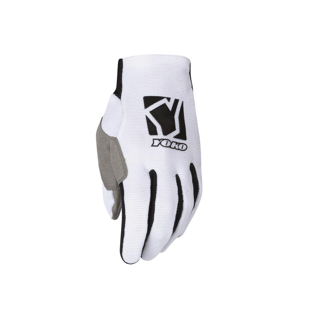 Pirštinės MX gloves YOKO SCRAMBLE white / black