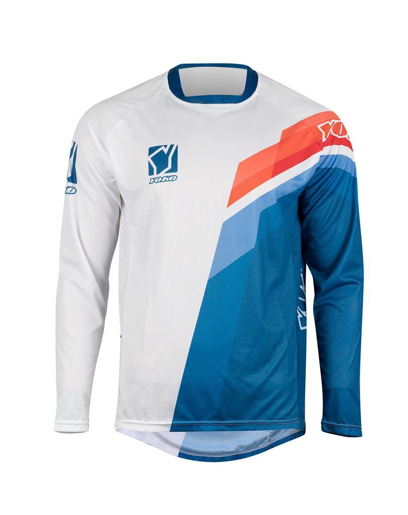 MARŠKINĖLIAI MX jersey YOKO VIILEE white / blue / fire