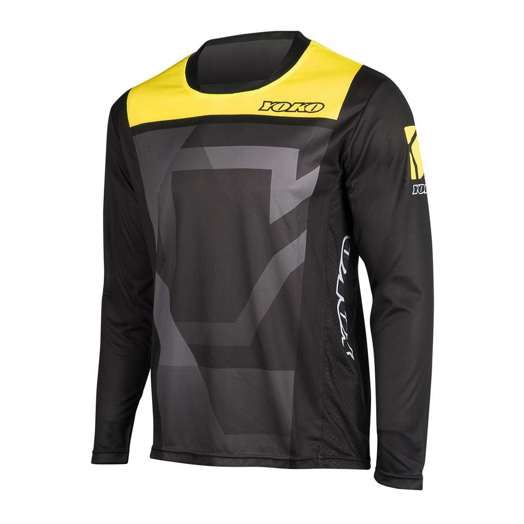 MARŠKINĖLIAI MX jersey YOKO KISA black / yellow