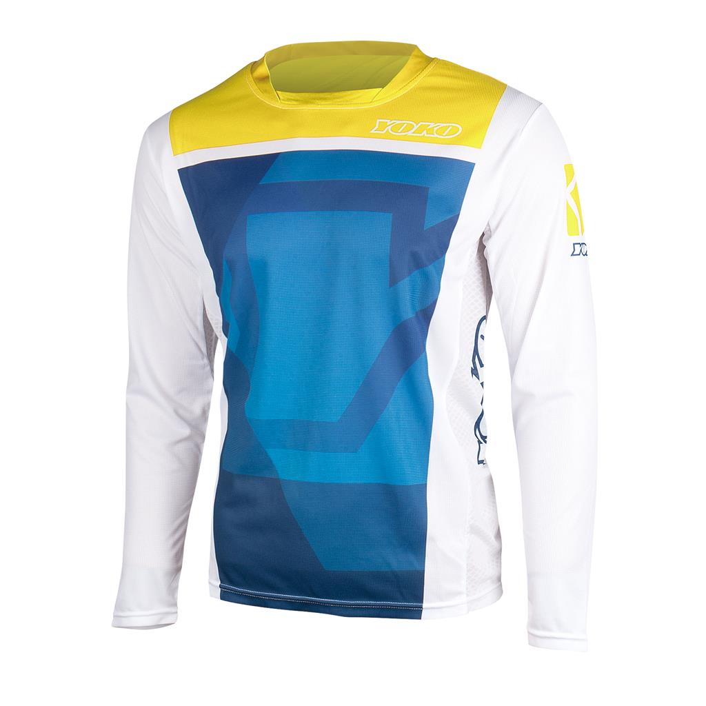 MARŠKINĖLIAI (vaikiški) MX jersey YOKO KISA blue / yellow