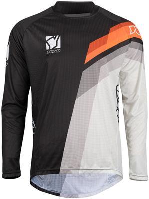 MARŠKINĖLIAI (vaikiški) MX jersey YOKO VIILEE black / white / orange