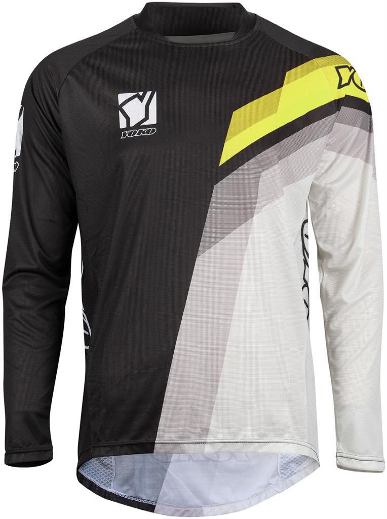 MARŠKINĖLIAI (vaikiški) MX jersey YOKO VIILEE black / white / yellow