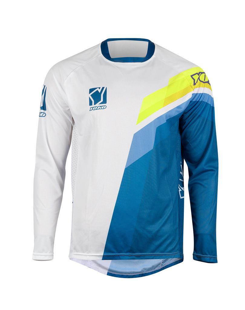 MARŠKINĖLIAI (vaikiški) MX jersey YOKO VIILEE white / blue / yellow