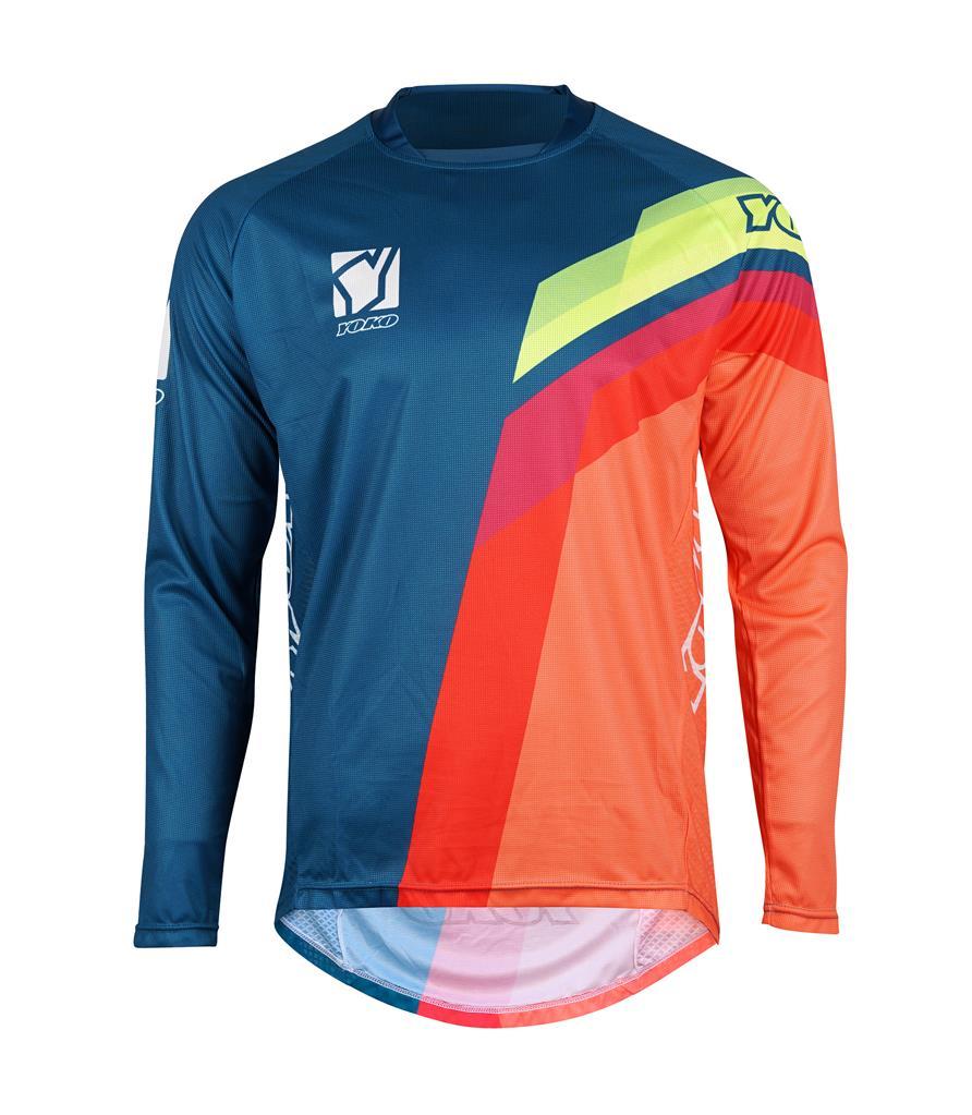 MARŠKINĖLIAI (vaikiški) MX jersey YOKO VIILEE blue/ orange / yellow