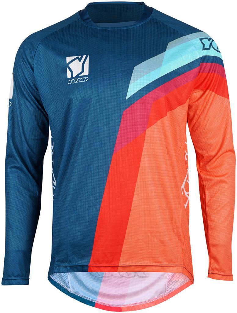 MARŠKINĖLIAI (vaikiški) MX jersey YOKO VIILEE blue/ orange / blue