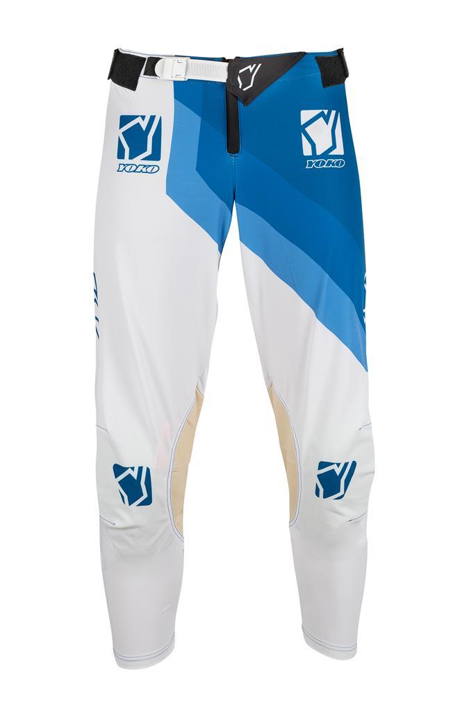 KELNĖS (vaikiškos) MX pants YOKO VIILEE white / blue