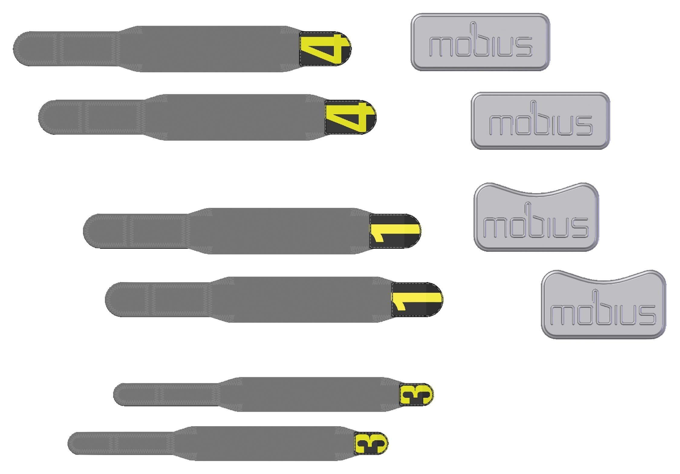Mobius x8 kelių apsaugų atsarginės dalys
