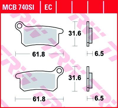 Stabdžių trinkelės SX65 02-21 priekis, 09-21 galas, TC65 18-21, SX85 03-11 priekis, 03-10 galas