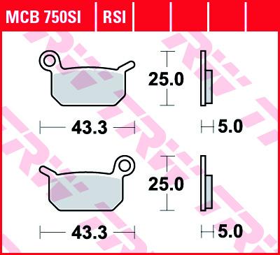 Galinės stabdžių trinkelės SX / TC50 -21, SX65 04-08, galinės