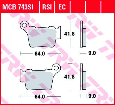 Galinės stabdžių trinkelės SX/F,EXC/f 125-450 04-21, TC/TE/FC/FE125-450 14-21,