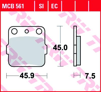 Galinės stabdžių trinkelės KX85 01-; YZ65 18-; YZ85 01-; RM65 03-05