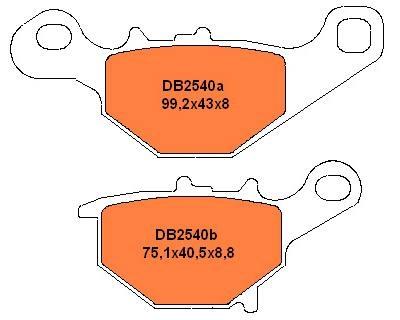 Galinės stabdžių trinkelės RM85 05-