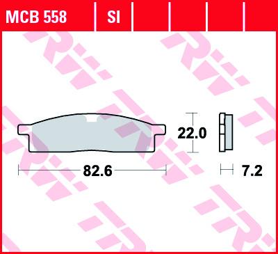Priekinės stabdžių trinkelės YZ65 18-; YZ85 02-;