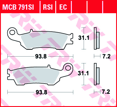 Priekinės stabdžių trinkelės YZ 125/250 08-; YZF250/450 08-;